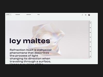 SADA STUDIO — Style Frames // 015 figma layoutdesign glass uiux web design productdesign bold typography sans serif