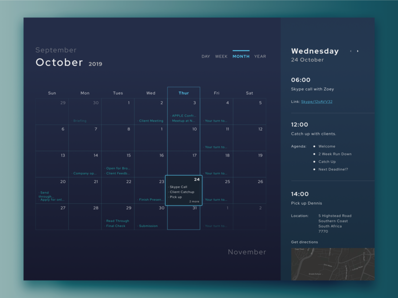 Daily UI Challenge 38 - Calendar dailyui daily challenge design daily ui challenge ux uiux web design user interface design ui