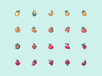 Fruit & Vegetable Icon - Free Download