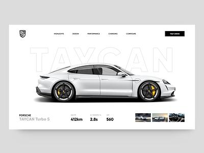 Porsche Taycan 🚗 - Clean Website Concept uidesign website webdesign ui design ui slider minimaism landing page homepage concept header design