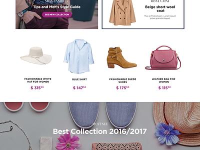 GOSHOP Online Shop - Website Concept header lp landing page user interface ux design uxui shop uidesign layout homepage concept clean 2d web ux ui webdesign website design e-commerce