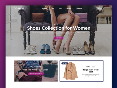 GOSHOP Online Shop - Website Concept