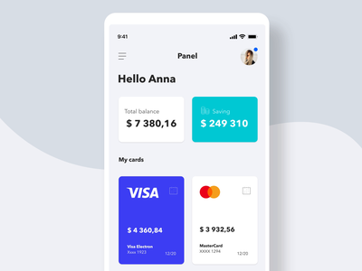 Budget Manager 💵 - Animation wallet ux user interface uiux ui design uidesign ui stats money mobile minimal ios concept clean budget bank app design app aplication animation