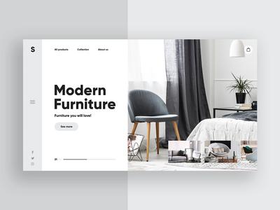 Modern Furniture 🛋️- Clean Website Concept