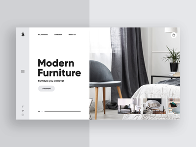 Modern Furniture 🛋️- Animation UI UX