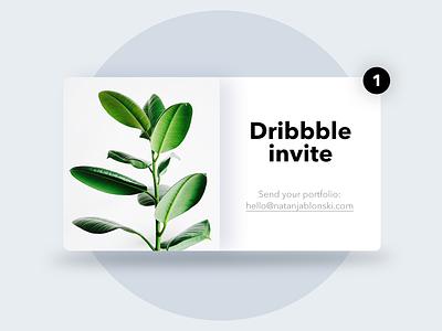 1x Dribbble invite 🎟️ design 2d invite dribbble invitation mobile portfolio shapes freebie designer app join card dribbble invitation concept vector uidesign invites minimalist ux