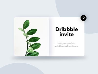 2x Dribbble invite 🎟️ minimalism concept ui ux design debuts 2d dribbble debuts dribbble invite ui design invites dribbble invtitation card join designer freebie portfolio invitation invite