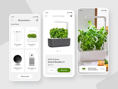 SmartShop📱- Mobile App Store mobile phone app ios smarthome application app design app minimal 2d design concept ecommerce minimalism shop ux ui store ui design uiux