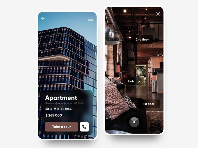 BuyHome 🏠- Mobile Search App vr house home buy flat apartment 360 ux uiux ui design ui store phone app mobile minimalism minimal design concept application app design app