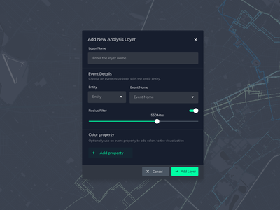 Modal Form in Dark Mode application webdesign ux ui design