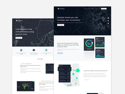 Location Analytics Website Design design ui illustraion webdesign website
