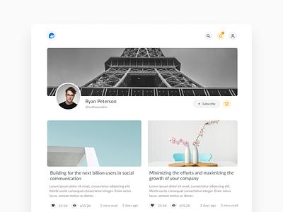 StoryOf.me personal blogging platform website ui webdesign design