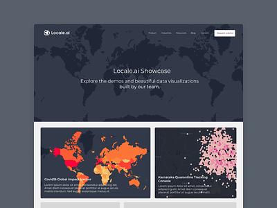 GeoSpatial and Data Visualization Showcase maps branding website ui webdesign design