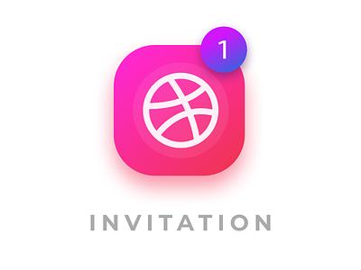 One Dribbble Invitation! dribbble invite invite dribbble player invitation design