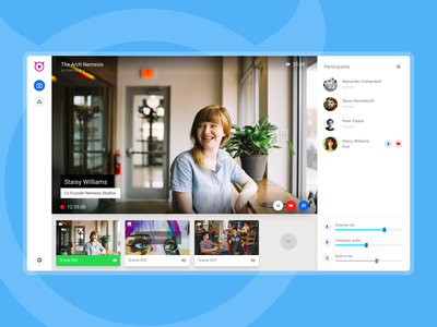 Video Event Streaming by Streamon video call streaming video web app website application ux webdesign ui design