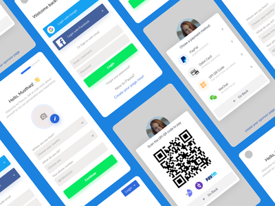 Crowd funding and sponsorship app UI ux finance fintech payment fundraising funding application ui design