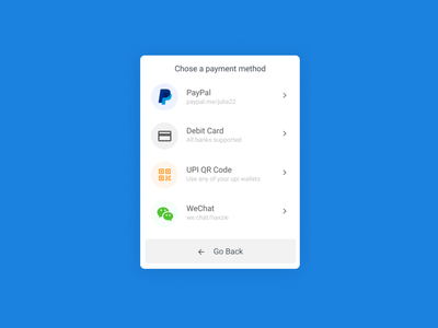 Payment methods UI payment app fundraising payment ux ui webdesign design