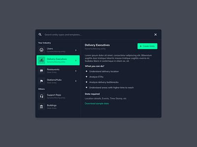 Dark mode wizard modal web app ui website application ux webdesign design
