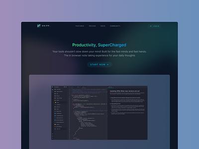 Minimal Dark Landing Page dark ui ux webdesign design