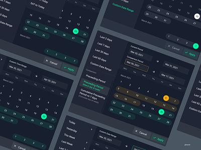 Multi Range Date Picker date app application design ux