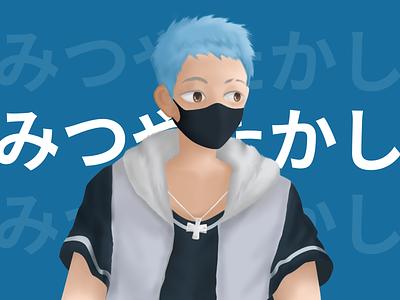 Takashi Mitsuya from Tokyo Revengers anime graphic design illustration