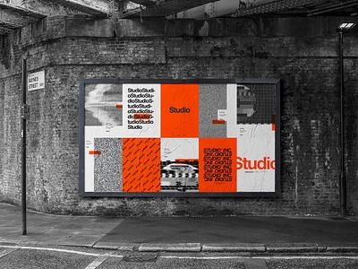 Some branding elements for my new Studio™ project orange is the new black urban street poster graphic  design streetwear typography design branding orange studio