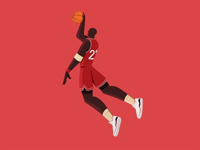 Michael move jump movement sport illustration sport ball dunk basketball basket character design character procreate illustration