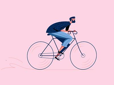I wanna ride my bicycle vector illustration riding ride bicycle cycle biking bike