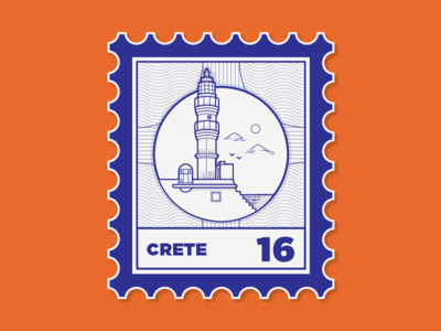 Places I've been to crete stamp travel