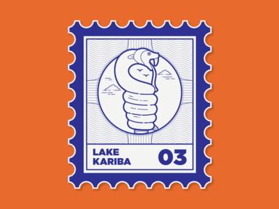 Places I've been to kariba lake snake location date blue mail stamp lake kariba zimbabwe