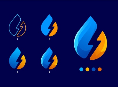 ECO ENERGY Logo Process in 4 Steps