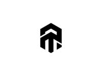 A + T Monochrome logo