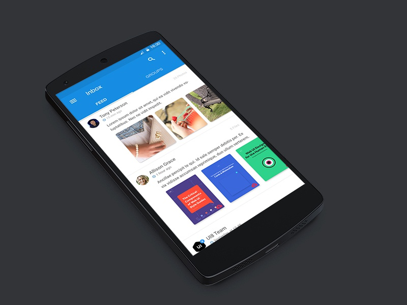 Mail.Ru Dribbble Competition material design inbox material design app competition email mail apps
