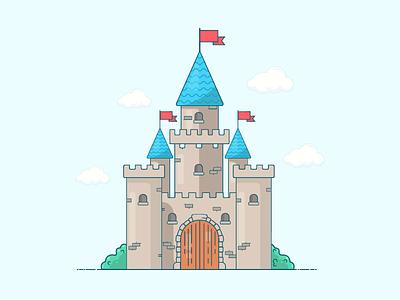 The Mysterious Castle videogame link flatdesign animation 2d warrior zelda games 2dillustration castle