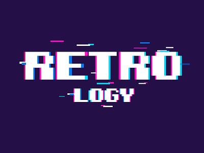 Retrology Logo gamedesign glitch pixelart pacman supermario sega videogame retrogaming design nintendo logo flatdesign zelda shot