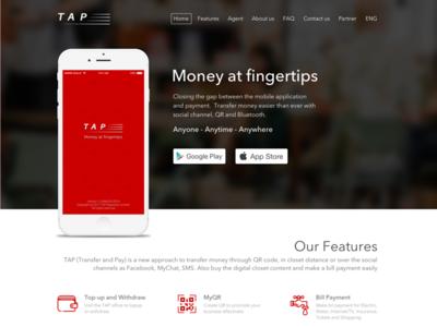 TAP - Mobile Money App - P1 - Landing page