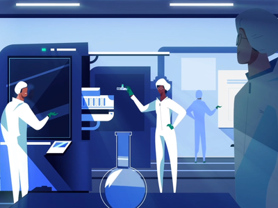 Lab cleaning character motion design graphics creative motion illustration ae design animation 2d
