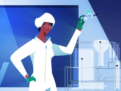 Scientist in a lab artist science art character motion creative ae illustration design animation 2d