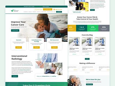 Oncology Landing Page medical oncology landing web design ux landing page website ui