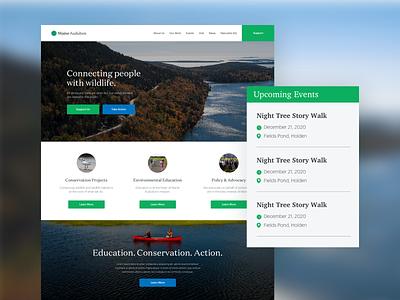 Maine Audubon - Landing Page landing parks and recreation nature audubon parks web design ui website landing page