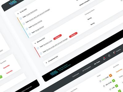Via Project Management Dashboard minimal product design ux dashboard ui dashboard project management app ui