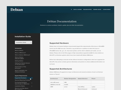 Debian Documentation api admin linux programming code documentation docs