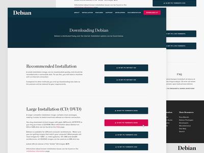 Debian Download design concept light minimal clean redesign website debian download