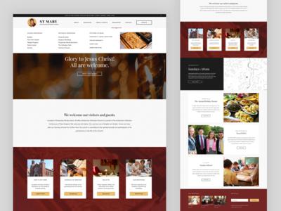 St. Mary - Home Page web design web ui antiochian orthodox church landing landing page