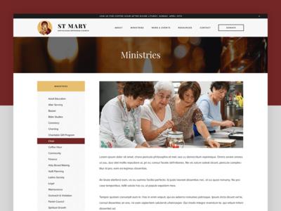St. Mary - Ministries ministry ministries web design web ui orthodox landing church antiochian