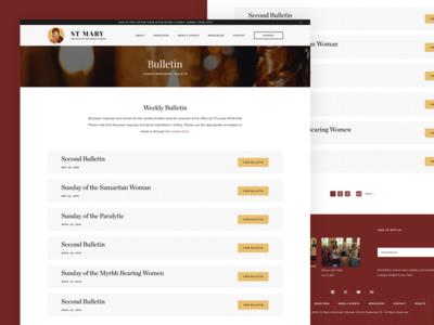 St. Mary - Bulletin web design web ux ui orthodox landing page landing church antiochian
