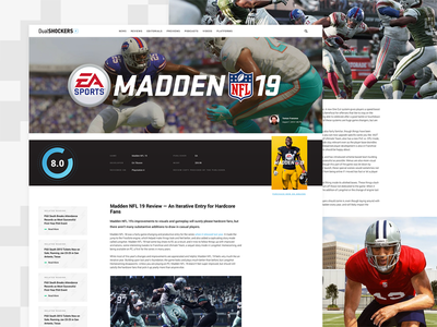 DualShockers: Game Review blog video game ps4 xbox madden gaming website ui ux web design