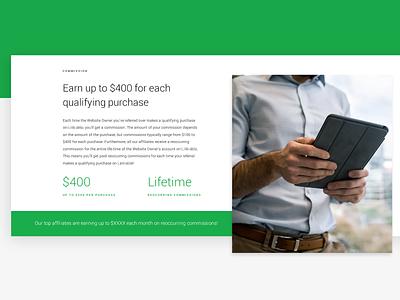 Affiliate Page website landing web design app tech seo wip affiliate minimal landing page ux ui
