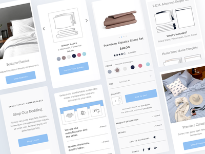Good and Bed - Responsive Design bedding linens redesign mobile app design mobile app ios landing page website ux ecommerce application app ui interface homepage mobile responsive