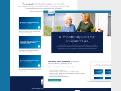 Philips Healthcare - Landing Page